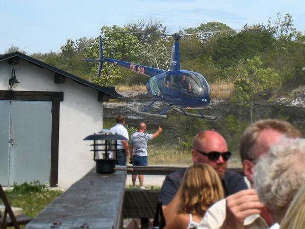 Helikopter-safari på Gotland