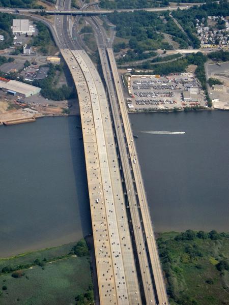 Motorväg ovanför New Jersey