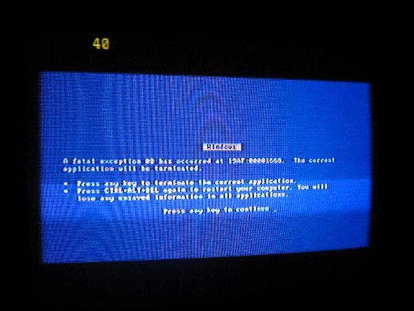 Ordnar blue screen på TVn