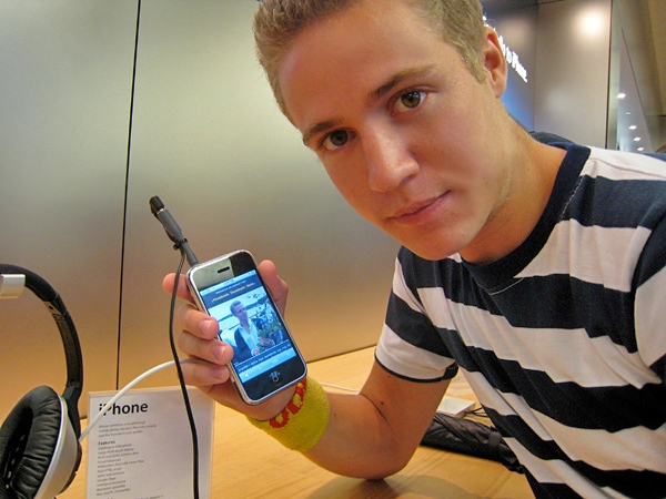 Stor sug efter Iphone